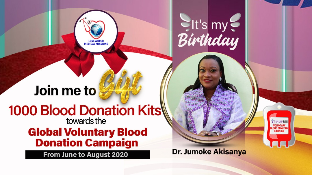 Join me to make safe blood available