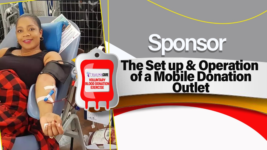 Sponsor the setup and operations of a mobile donation outlet