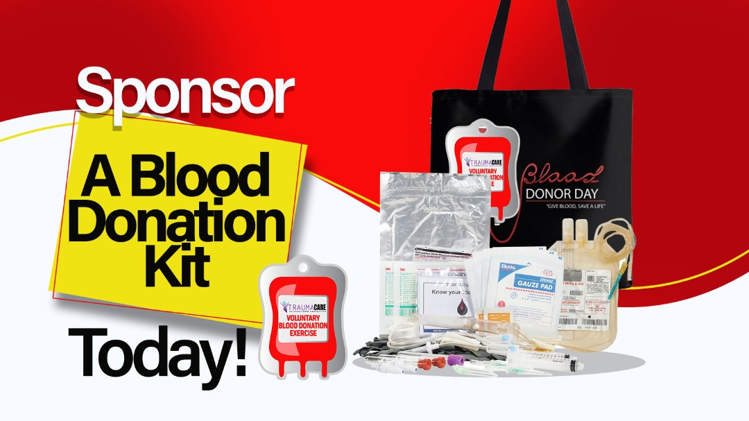 Sponsor blood donation kits