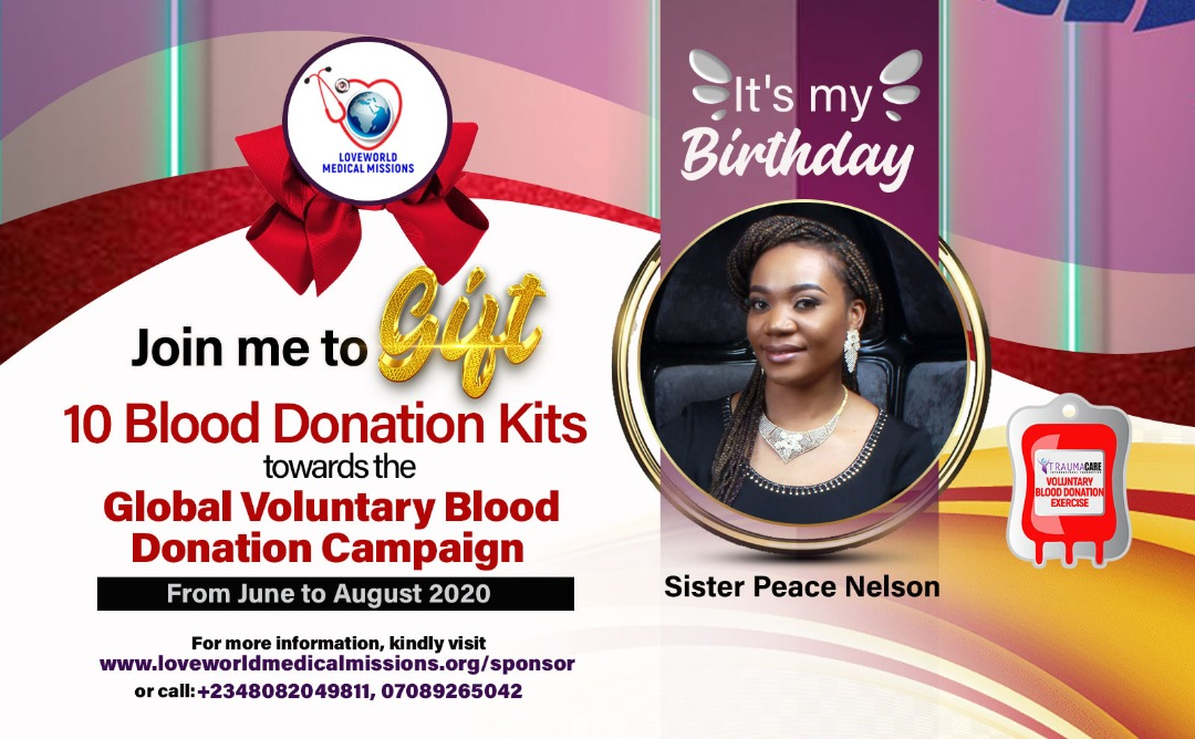 Sister Peace Nelson Birthday Campaign