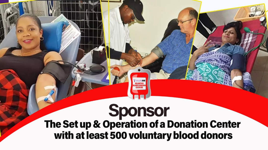 Sponsor the setup & operation of a donation center